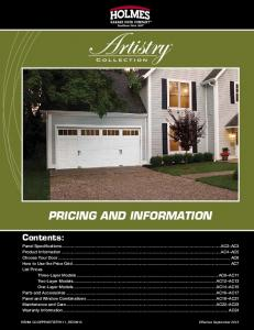 PRICING AND INFORMATION