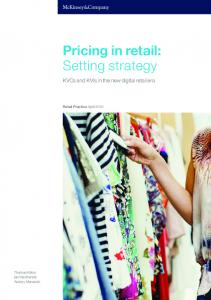 Pricing in retail: Setting strategy