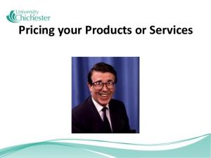 Pricing your Products or Services