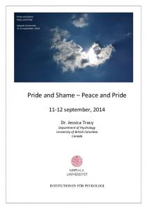 Pride and Shame Peace and Pride