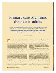 Primary care of chronic dyspnea in adults