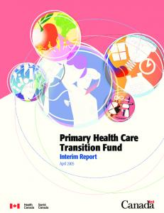 Primary Health Care Transition Fund