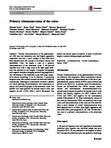 Primary leiomyosarcoma of the colon