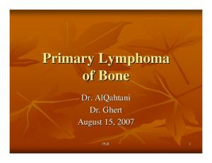 Primary Lymphoma of Bone