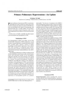 Primary pulmonary hypertension (PPH) is a mysterious,