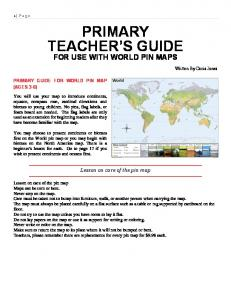PRIMARY TEACHER S GUIDE