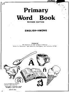 Primary Word ENGLISH-HMONG