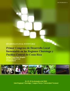 Primer Congreso de Desarrollo Local Sustentable en las Regiones Chorotega y Pacifico Central de Costa Rica
