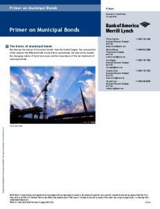 Primer on Municipal Bonds