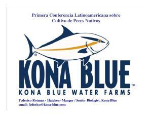Primera Conferencia Latinoamericana sobre Cultivo de Peces Nativos