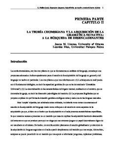 PRIMERA PARTE CAPITULO II
