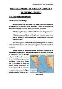 PRIMERA PARTE: EL ARTE EN GRECIA Y EL MUNDO GRIEGO