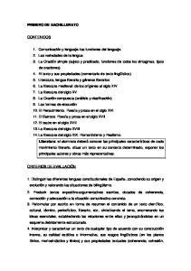 PRIMERO DE BACHILLERATO CONTENIDOS