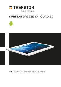 PRIMETAB P10 SURFTAB BREEZE 10.1 QUAD 3G MANUAL DE INSTRUCCIONES