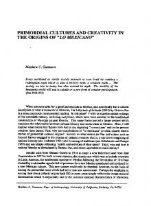 PRIMORDIAL CULTURES AND CREATIVITY IN