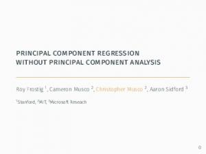principal component regression without principal component analysis