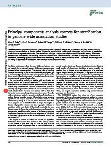 Principal components analysis corrects for stratification in genome-wide association studies