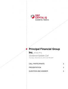 Principal Financial Group Inc. NYSE:PFG