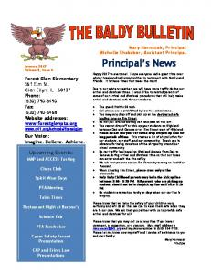 Principal s News. Upcoming Events: