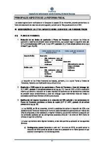 PRINCIPALES ASPECTOS DE LA REFORMA FISCAL