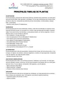 PRINCIPALES FAMILIAS DE PLANTAS