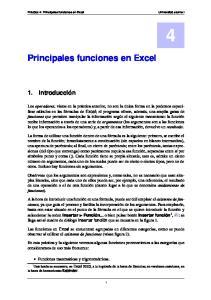 Principales funciones en Excel