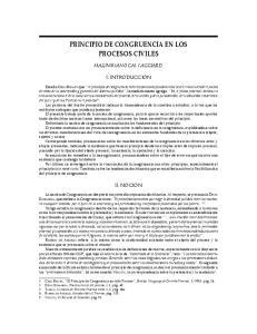 PRINCIPIO DE CONGRUENCIA EN LOS PROCESOS CIVILES