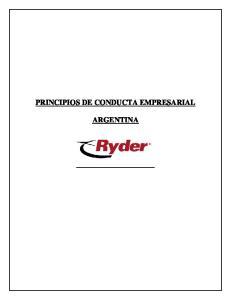 PRINCIPIOS DE CONDUCTA EMPRESARIAL ARGENTINA