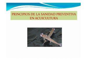PRINCIPIOS DE LA SANIDAD PREVENTIVA EN ACUICULTURA