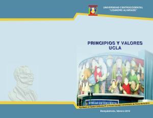 PRINCIPIOS Y VALORES UCLA