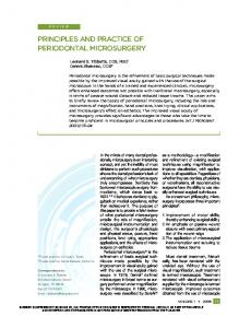 PRINCIPLES AND PRACTICE OF PERIODONTAL MICROSURGERY