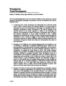 Principles for Youth Development