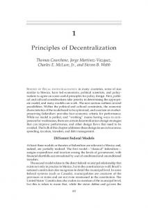 Principles of Decentralization
