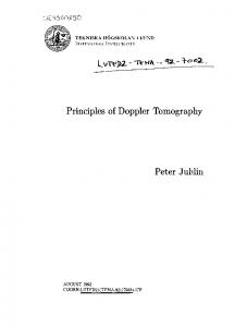 Principles of Doppler Tomography
