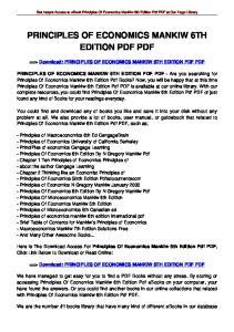 PRINCIPLES OF ECONOMICS MANKIW 6TH EDITION PDF PDF