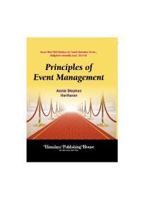 PRINCIPLES OF EVENT MANAGEMENT