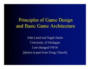 Principles of Game Design and Basic Game Architecture