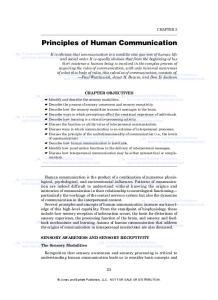 Principles of Human Communication