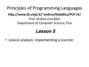 Principles of Programming Languages