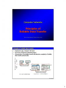 Principles of Reliable Data Transfer