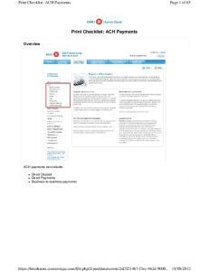 Print Checklist: ACH Payments