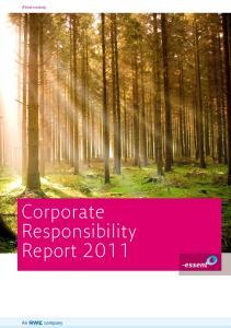 (Print version) Corporate Responsibility Report 2011