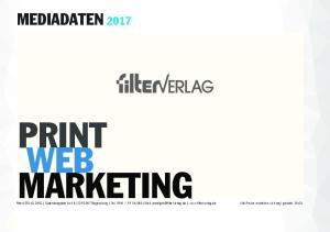 PRINT WEB MARKETING MEDIADATEN 2017