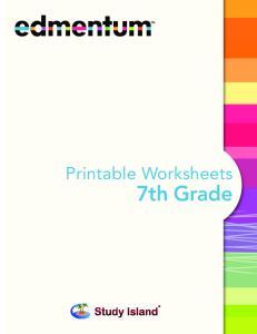 Printable Worksheets. 7th Grade