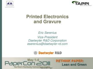 Printed Electronics and Gravure