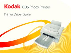 Printer Driver Guide. 805 Photo Printer