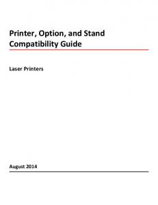 Printer, Option, and Stand Compatibility Guide. Laser Printers