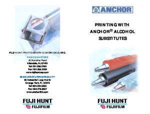 PRINTING WITH ANCHOR ALCOHOL SUBSTITUTES