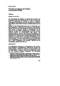 Prinzipien zur Regelung des Transfers konventioneller Waffen