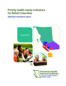 Priority health equity indicators for British Columbia: